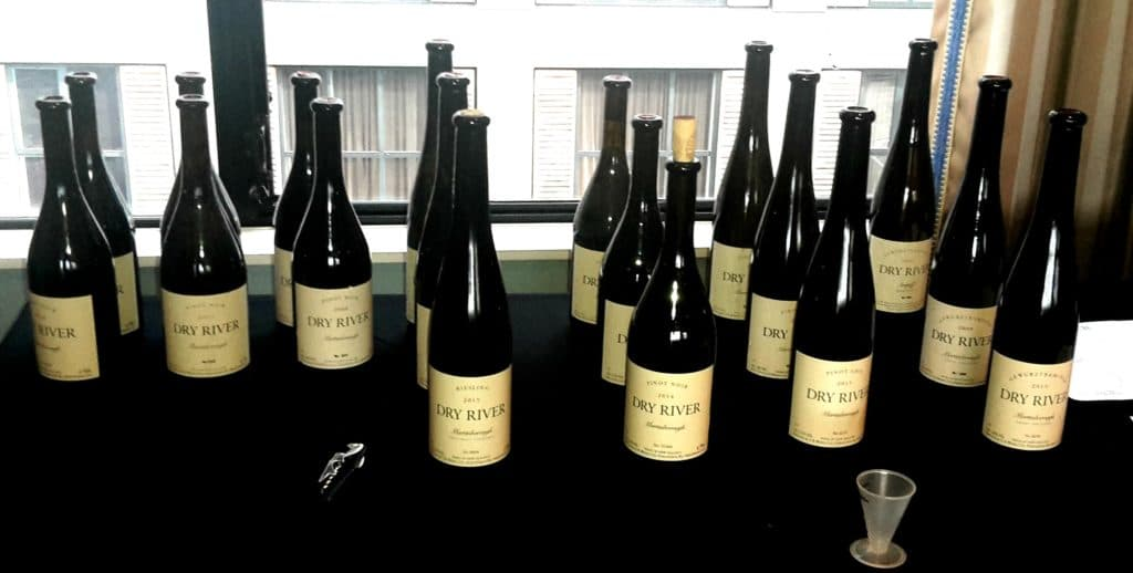 The line up, formal tasting session